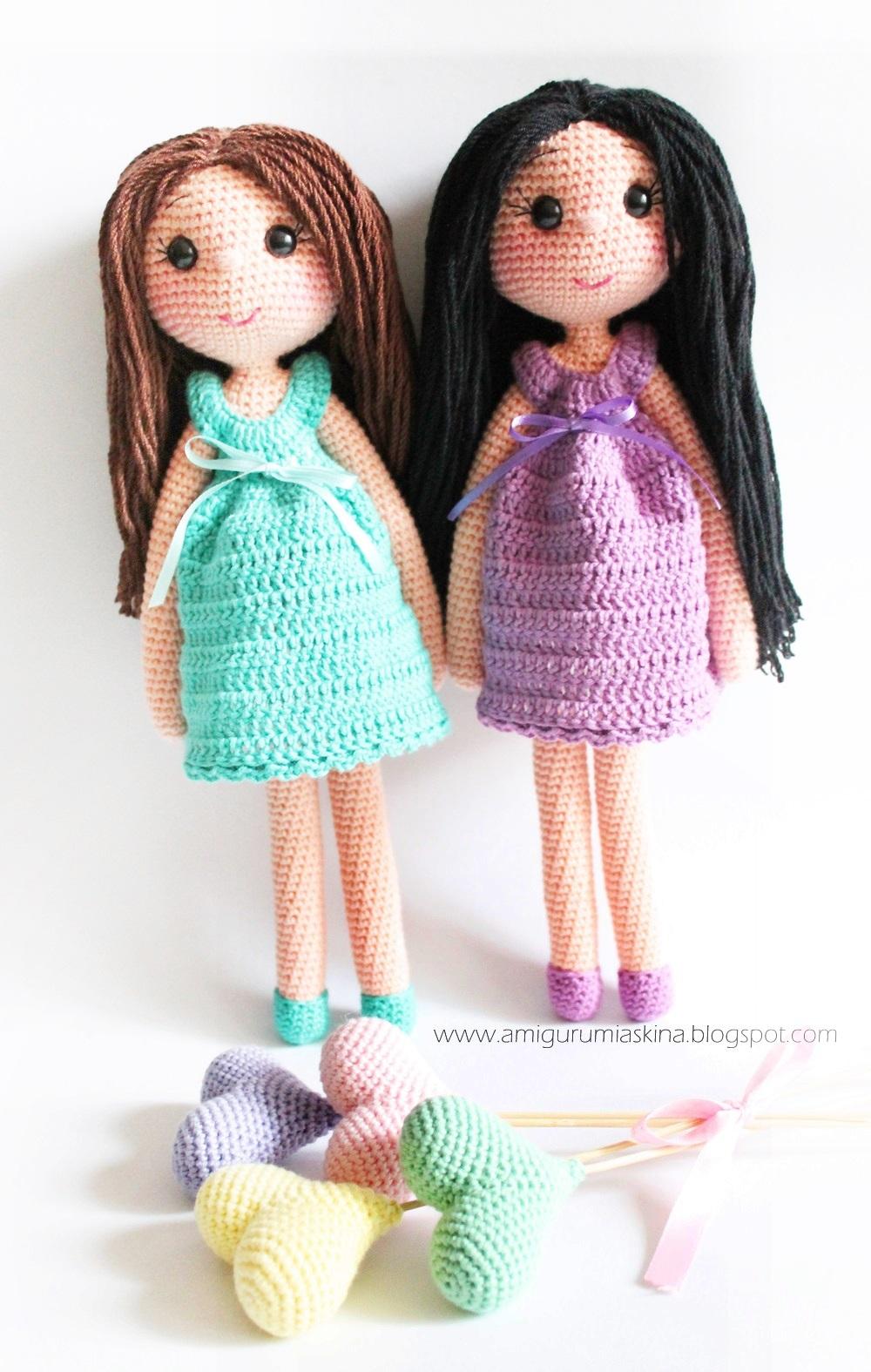Niloya Amigurumi Free Pattern Doll Oyuncak Bebek : Amigurumi Abla-Karde? Bebekler-AmigurumiDoll Tiny Mini ...