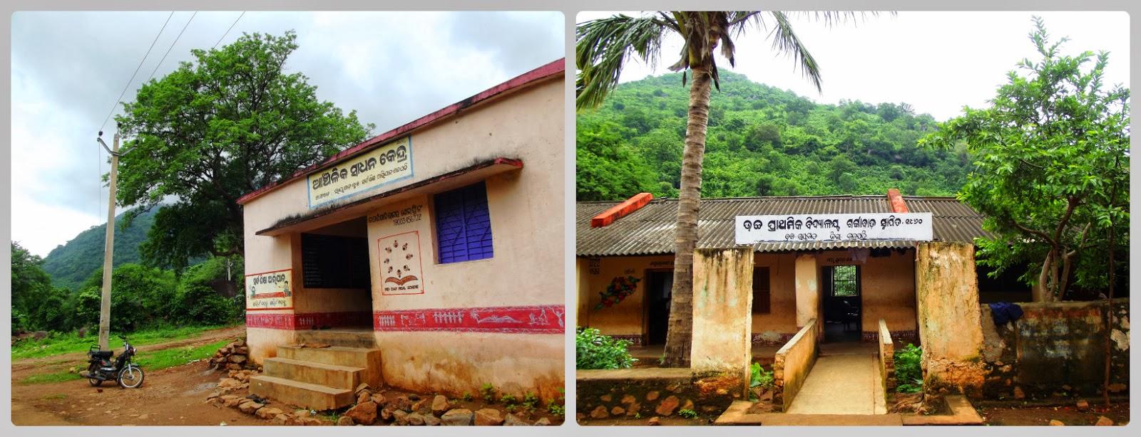 Gangabada school on the way to mahendragiri