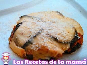 Receta de Milhojas de berenjena, setas y carne