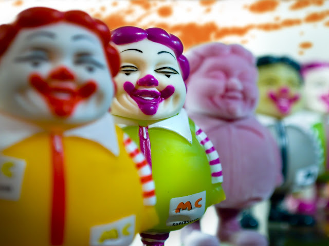 Supersized Ronald McDonald figures
