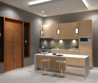Dapur bentuk I minimalis
