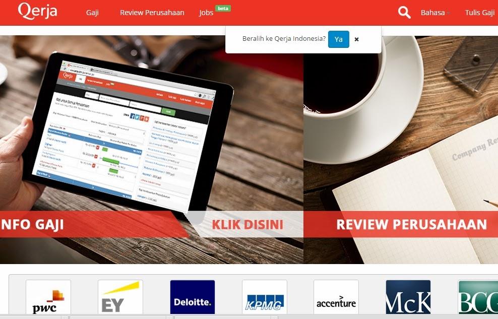 Dengan Qerja.com Anda Akan Tahu Gaji Perusahaan Lain