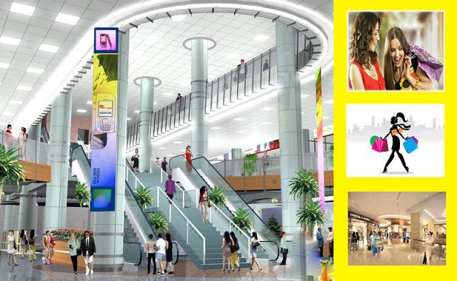 Phối cảnh khu mua sắm tại đế tòa nhà chung cư The Golden An Khánh Hoài Đức