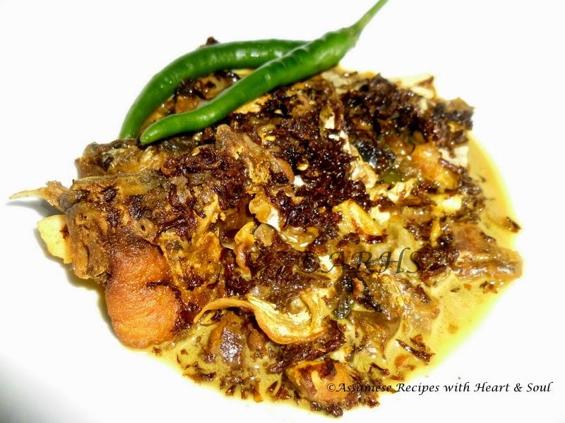 Assamese recipes sewali phulor logot masor muror khar for Assamese cuisine fish