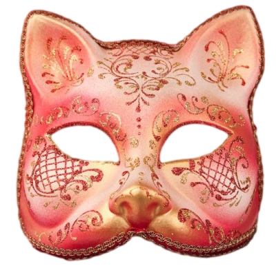Máscara Carnaval PNG - Gato Red