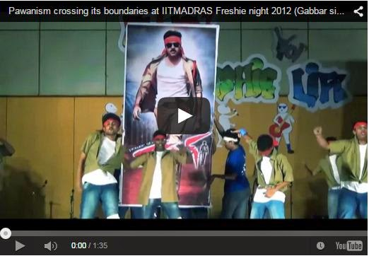 Pawanism crossing its boundaries at IITMADRAS Freshie night