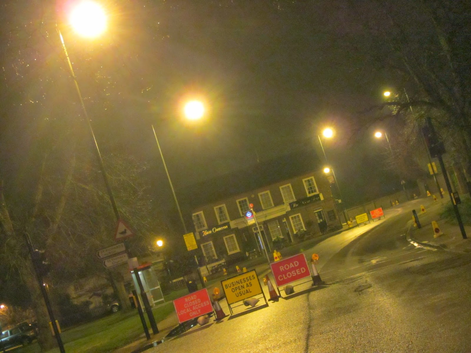 A Substantial Stretch Of Petersham Road Is Being Resurfaced And The Closed Overnight From Ham Common Through To Star Garter Hill