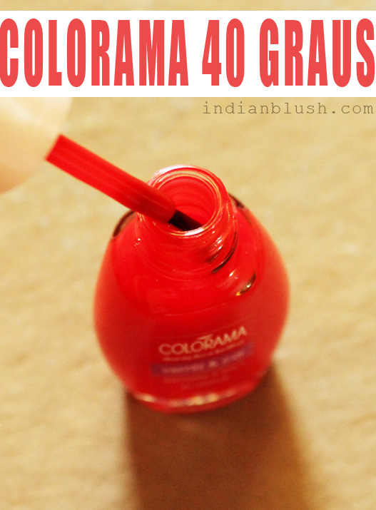 Maybelline Colorama Nailpolish 40 Graus shade swatches
