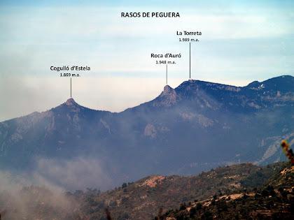 Els afuats Cogulló d'Estela i Roca d'Auró són un punt de referència obligat en el paisatge del Berguedà
