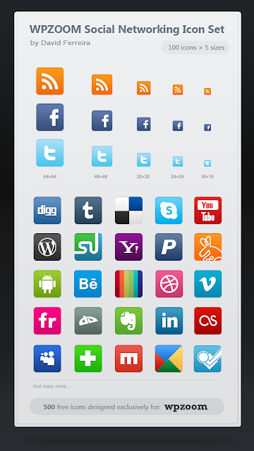 iconos redes sociales psd