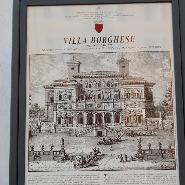 The sign entrance to Villa Borghese in Rome, Italy