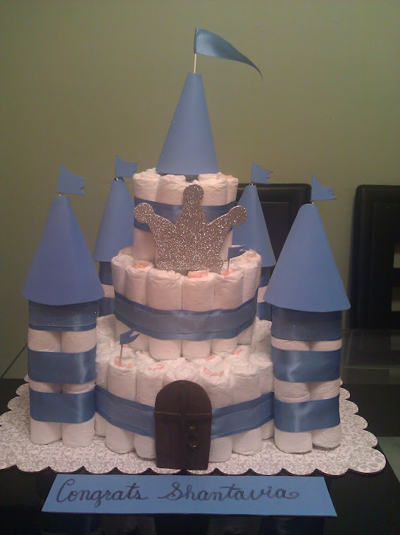 Diaper Castle Cake for a Prince I made