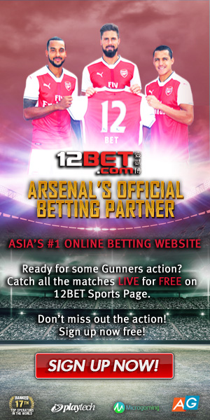 12BET Official Betting Partner