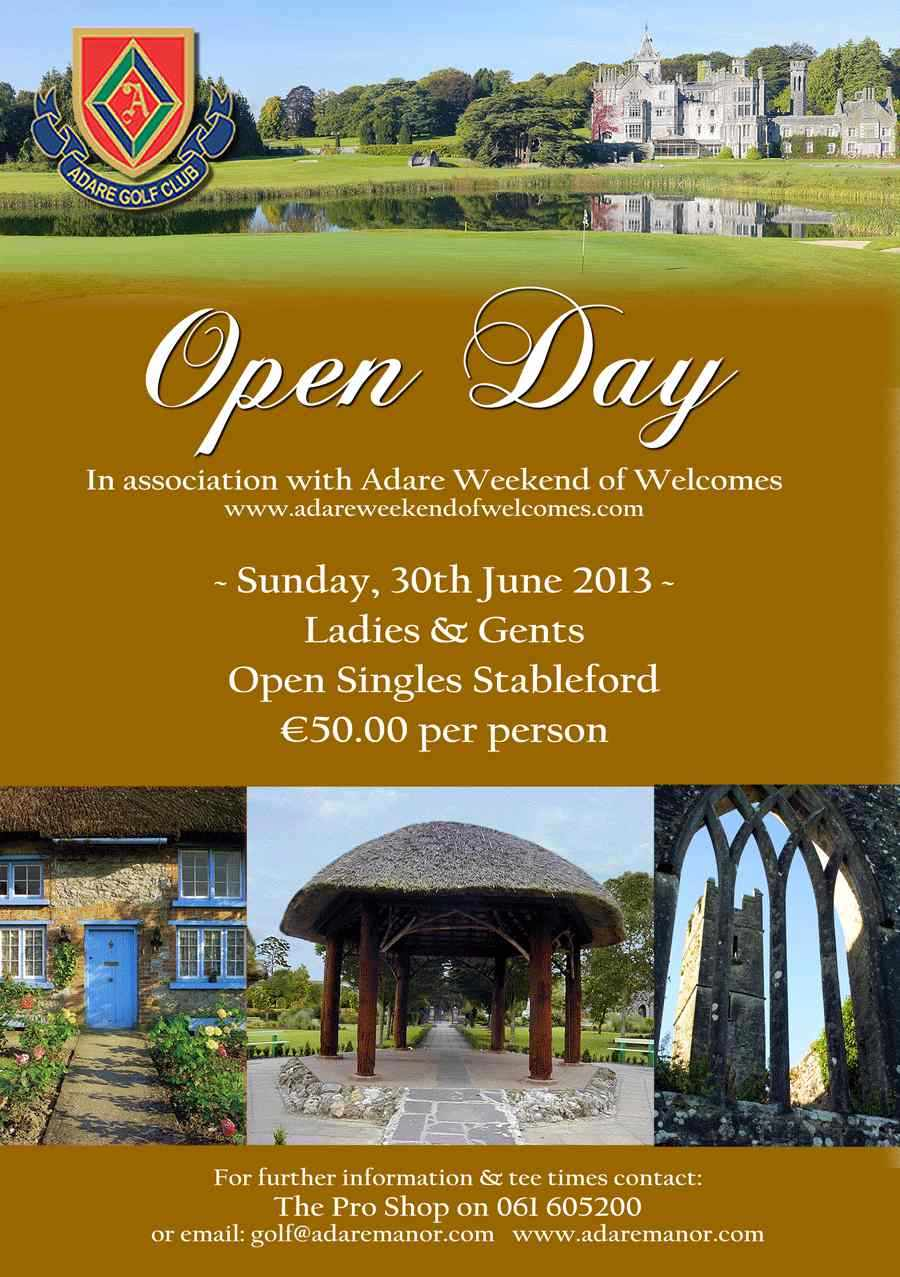 Hooked Ireland S Golf Courses An Invitation To Play Adare Open