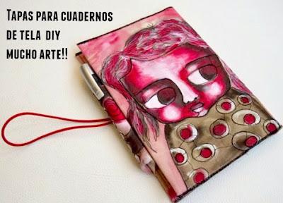 Como hacer las tapas en tela de un cuaderno