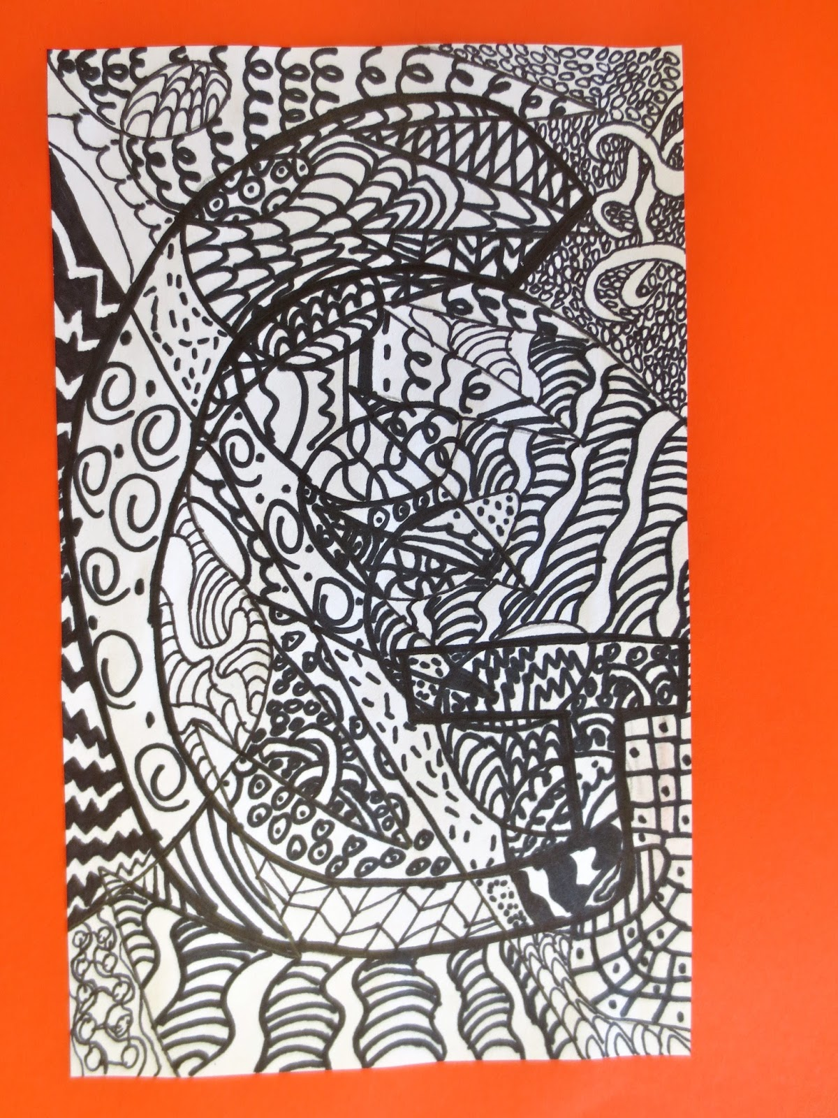 zilker elementary art class  zentangle letter designs