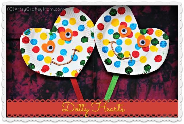 Dotty hearts valentine craft