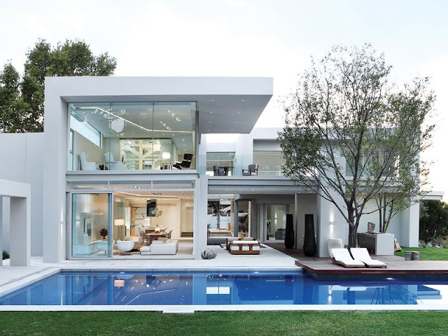 World of architecture modern luxury house in johannesburg for Pool design johannesburg