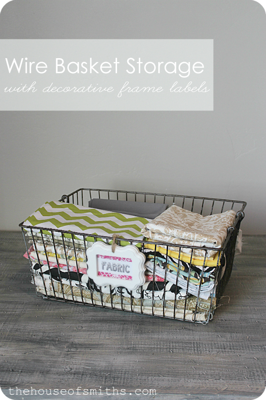 I purchased these great over sized shabby-chic looking wire baskets with handles from Amazon used a little twine and some adorable Orange Blossom small ... : storage baskets with labels  - Aquiesqueretaro.Com