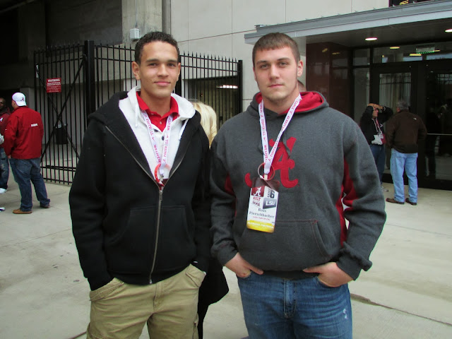 Left to right: Derek Kief, Ross Pierschbacher at 2013 Alabama Crimson Tide vs LSU Tigers game