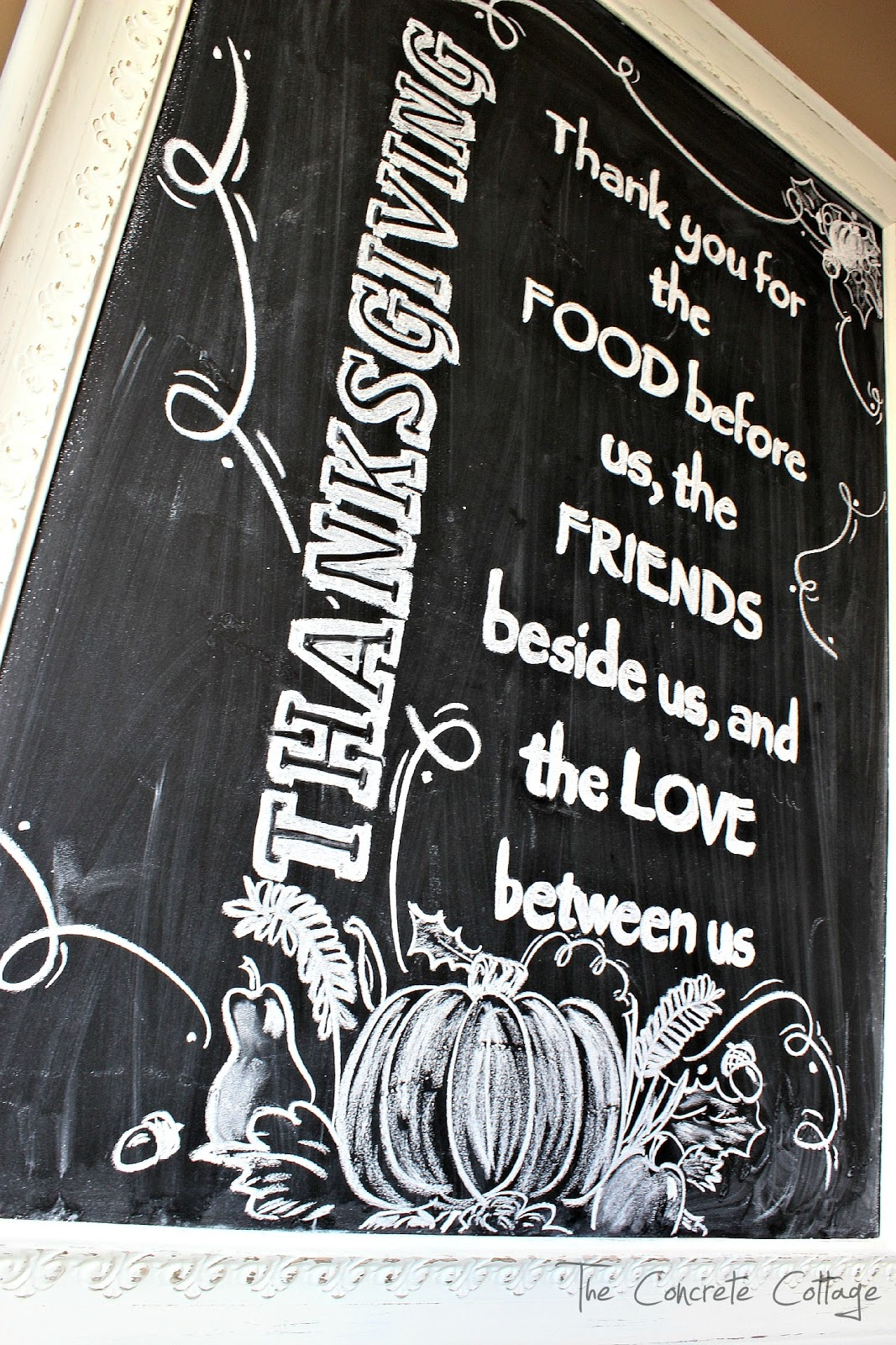 The Concrete Cottage My Thanksgiving Chalkboard