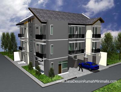 Desain Rumah Kost Modern Minimalis