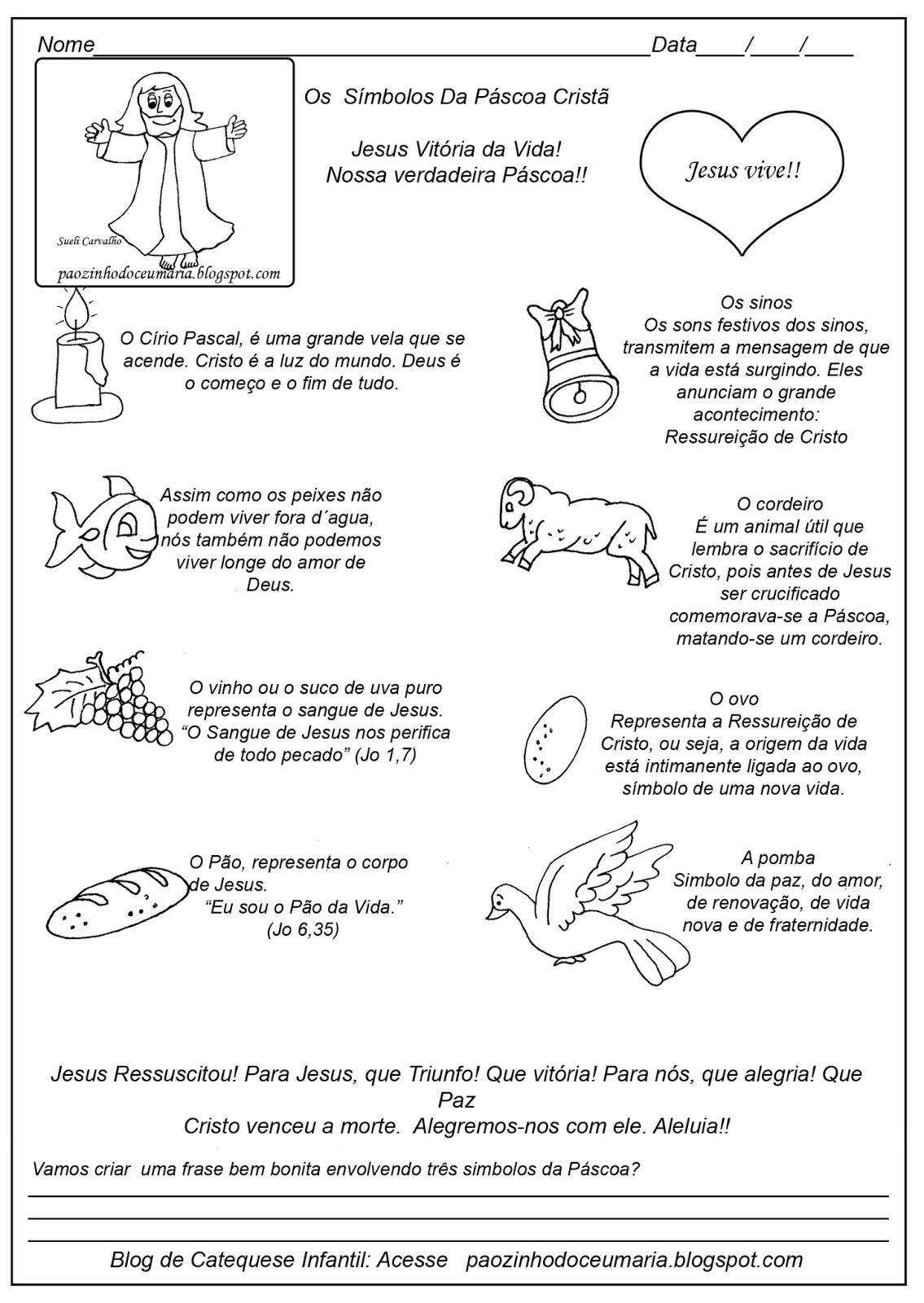 Imagens Dos Simbolos da Pascoa Símbolos da Páscoa e Uma