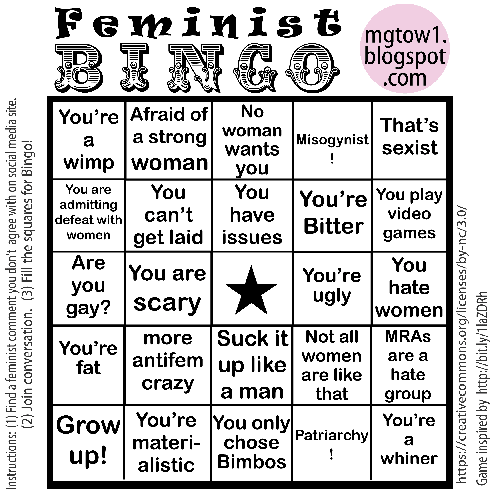 Feminist Bingo Card (low resolution preview)