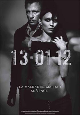 Cartel del remake de Millenium, de David Fincher, Los hombres que no amaban a las mujeres