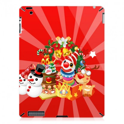 Cool iPad 2 case-Clown and Snowman