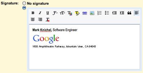 Tener firmas personales en Gmail