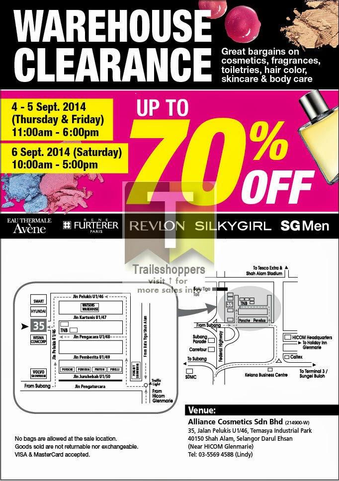Alliance Cosmetics Warehouse Sale Sdn Bhd Malaysia Clearance