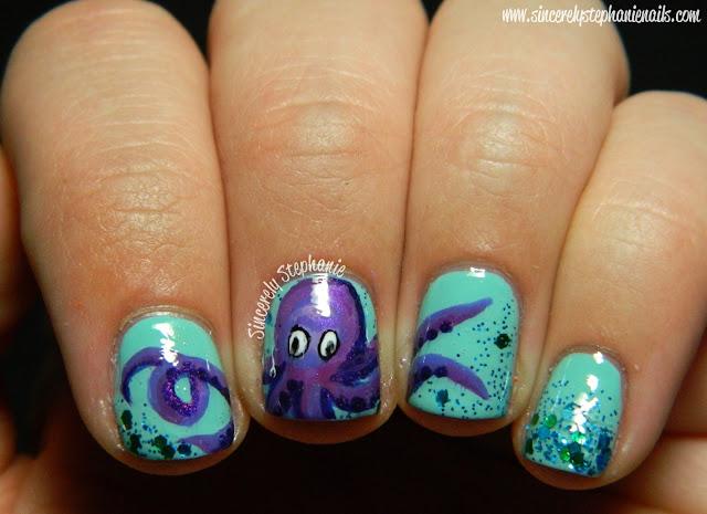 octopus nail art