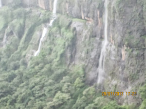 Bhimashankar Mountain  with waterfalls.