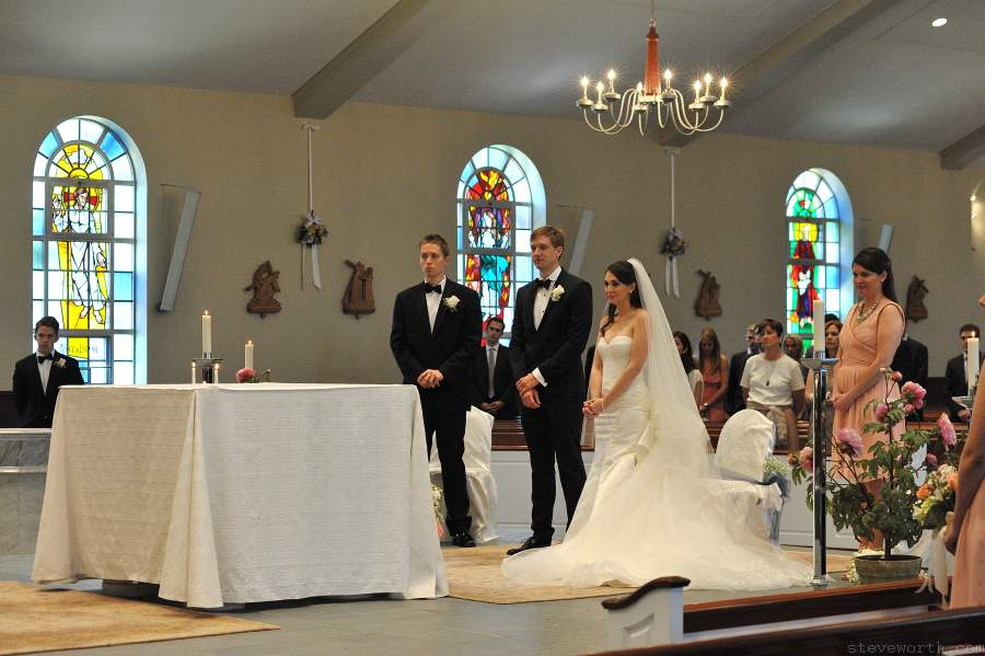 Bride and Groom - St. James, Setauket, NY Wedding