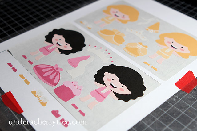 Under A Cherry Tree Jins MakeYourOwn Paper Doll Stickers - Make your own decal paper