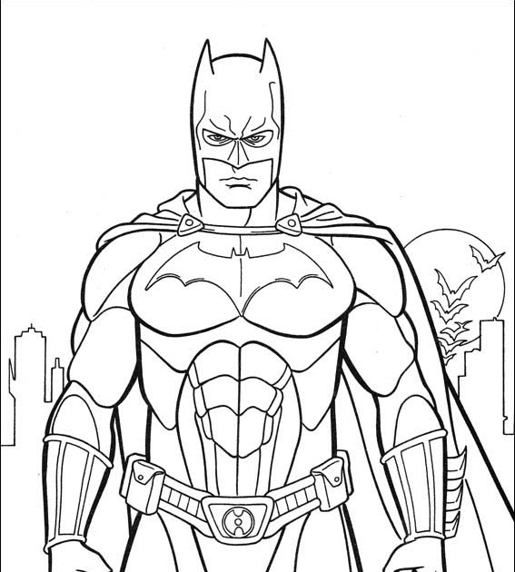 Batman coloring pictures for kids - Coloring Pics