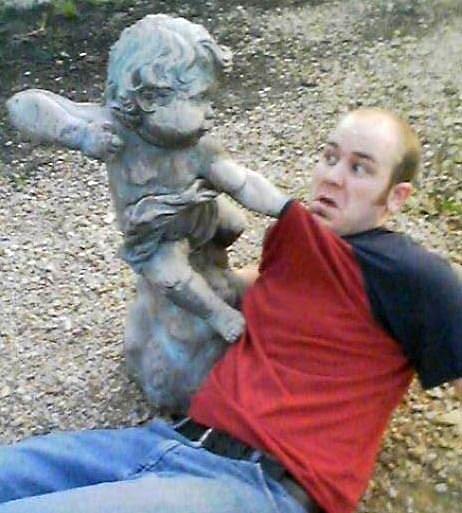Funny Angel Statues