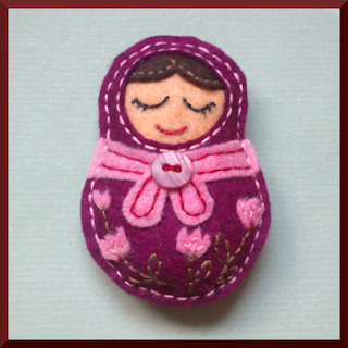 broche fieltro matrioska