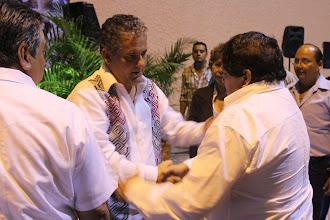 El gobernador Juan Sabines y yo