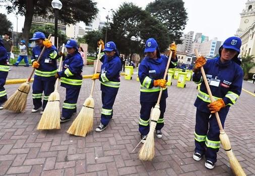 Gestion de un servicio de limpieza publico