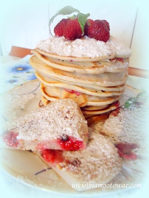 Pancakes z malinami