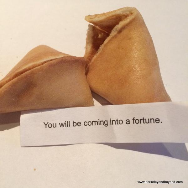fortune cookie at Yet Wah in San Rafael, California