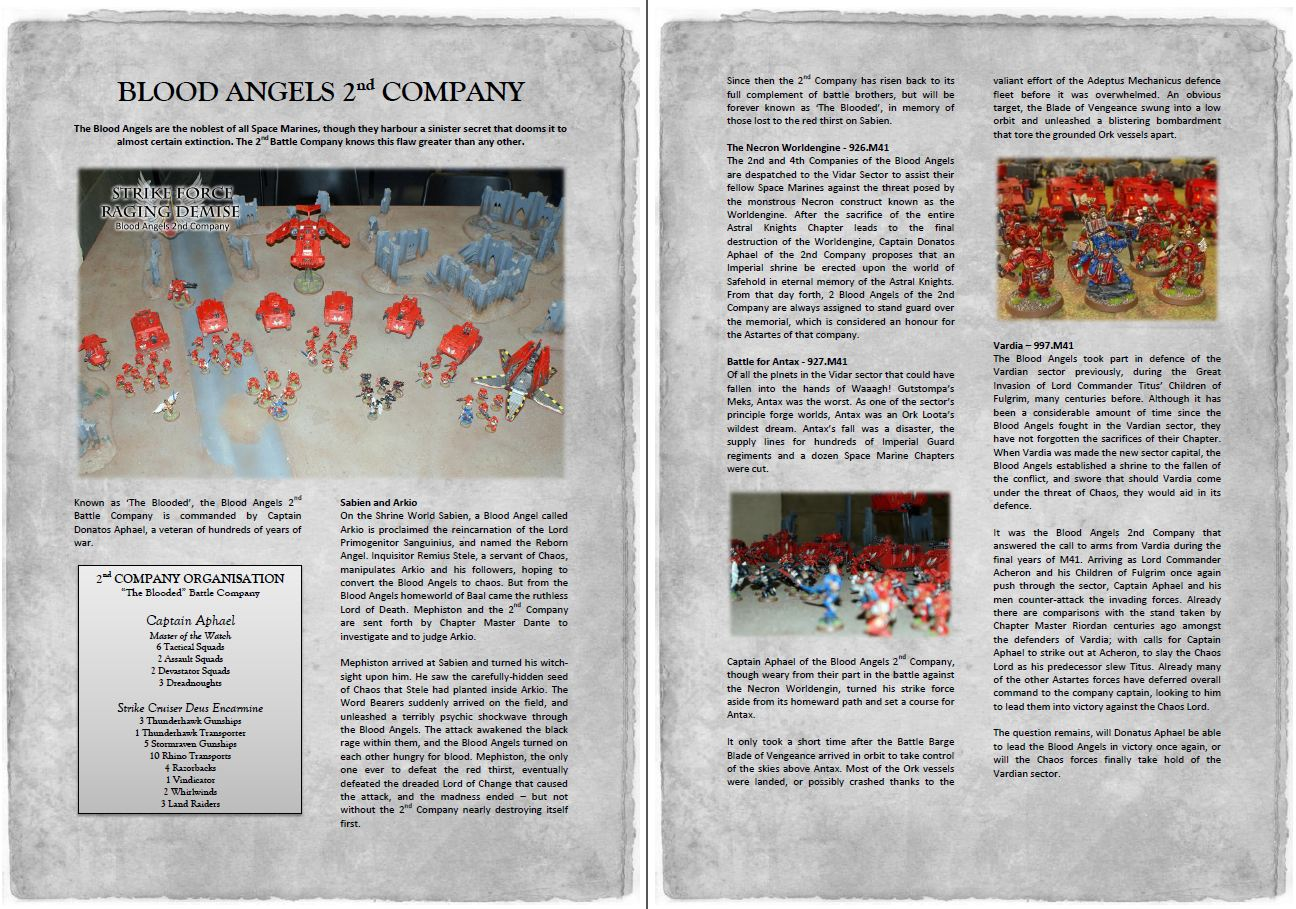 The Heralds of Ruin Painting and Gaming Blog: Blood Angels Army ...