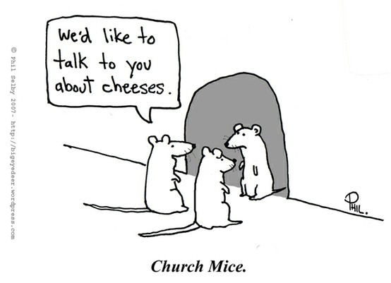 church mice cartoon