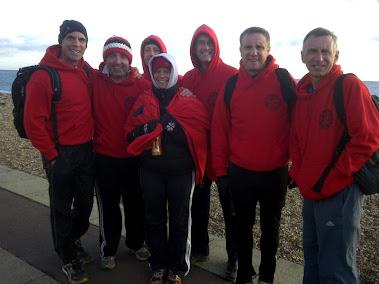 AFF at a cold Portsmouth Marathon