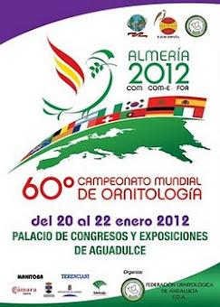 60ªCAMPEONATO MUNDIAL ORNITOLOGIA DE ESPANHA - ALMERIA 2012