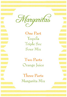 Cinco de Mayo Margarita Recipe Card