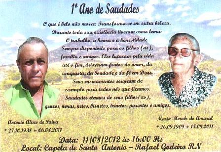 Os Familiares De Antonio Alves De Paiva E De M   Marces Do Amaral