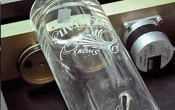 Vaso con grabado de vidrio